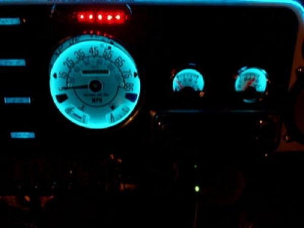 1980 1986 Jeep Cj Dash Cluster White Face Gauges 80 86 Ebay