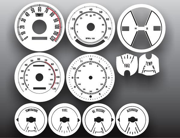 1969-1970 Ford Mustang White Face Gauges pic 1