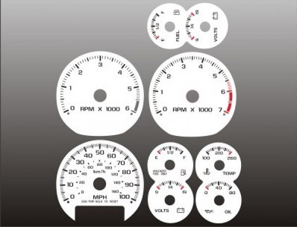 1998 2002 chevrolet s10 tach manual dash cluster white face gauges full size image