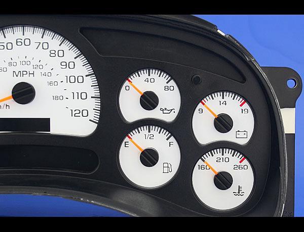 2003 2007 silverado truck gas dash instrument cluster white face gauges 03 07 ebay - Garage auto pro arc les gray ...