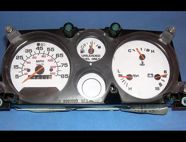 1974 1996 Chevrolet Van Dash Cluster White Face Gauges G10