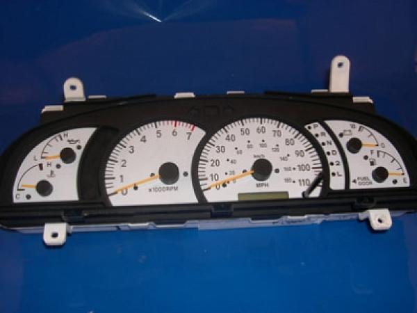 2001 2004 Toyota Tundra Dash Cluster White Face Gauges 01