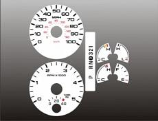 2005-2007 Ford Truck Diesel Powerstroke White Face Gauges pic 1