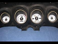1969-1970 Ford Mustang White Face Gauges pic 2