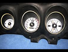 1969-1970 Ford Mustang White Face Gauges pic 3