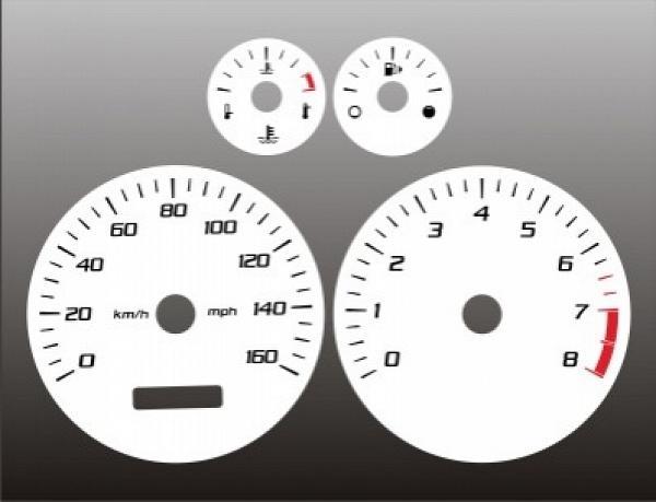 2004-2007 Ford Ranger Dash Cluster White Face Gauges 04-08