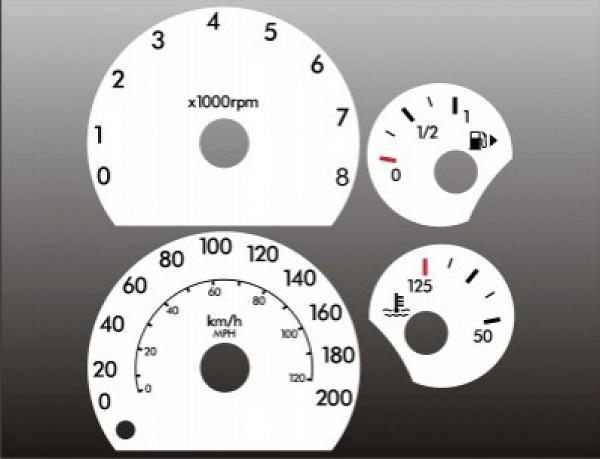 2006 Chevrolet Impala White Face Gauges 06