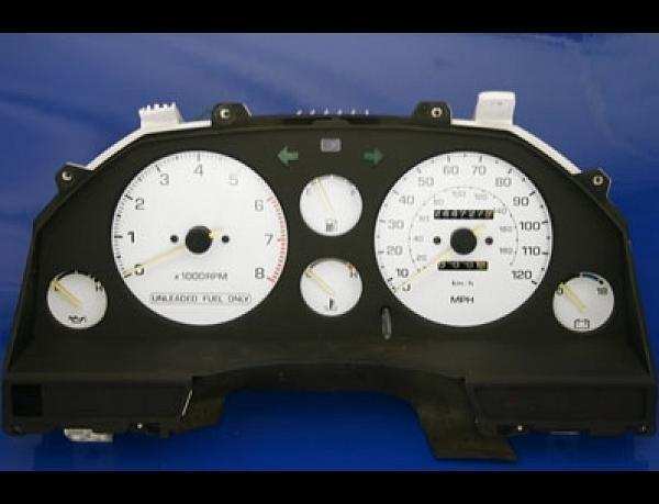 1986-1989 Toyota Celica GT Dash Cluster White Face Gauges 86-89