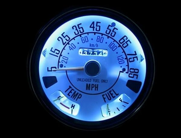 19761979    Jeep    CJ5    CJ7    85 Mph Dash Cluster White Face    Gauges    7679   eBay