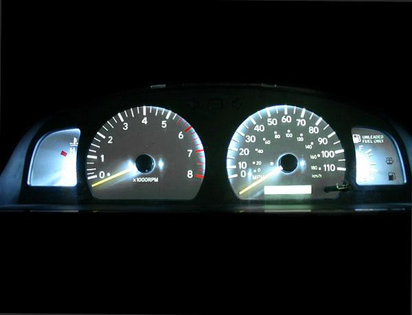 1999 2000 Toyota Tacoma Dash Instrument Cluster White Face