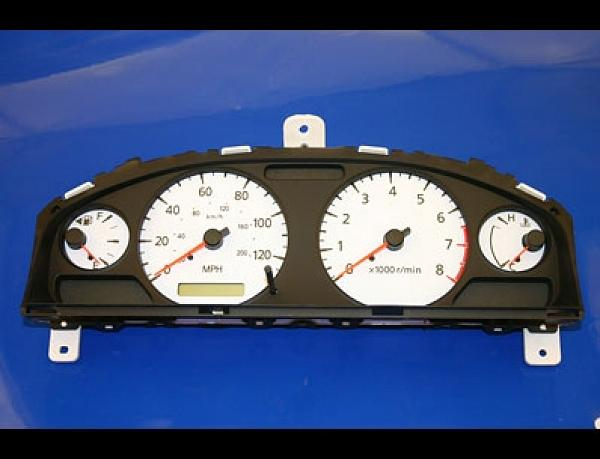White Face Gauge Kit Fits 2000-2006 Nissan Sentra 120 MPH Instrument Cluster